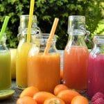 five glasss of fruit juice