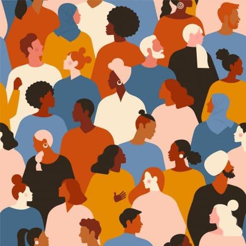 multi ethnic wallpaper of people
