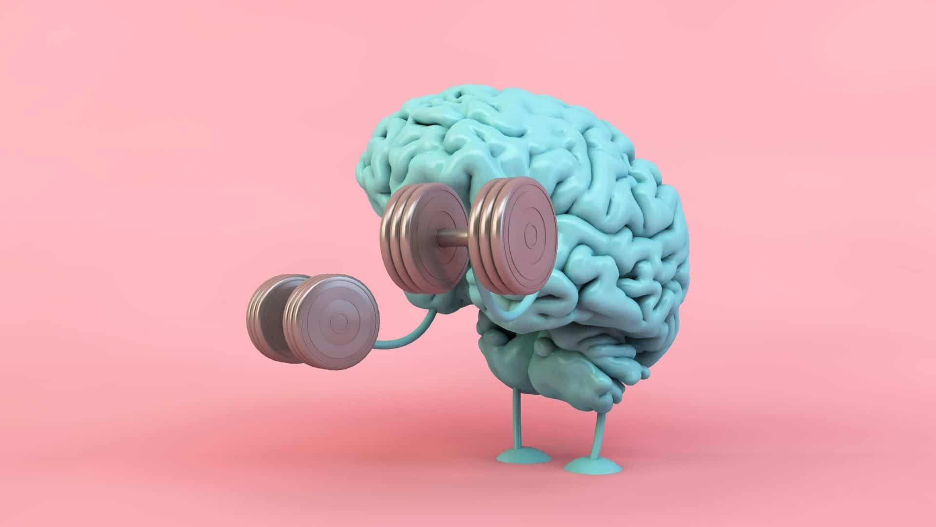 brain lifting hand weights
