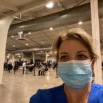 Nurse Barb in San Jose at COVID POD